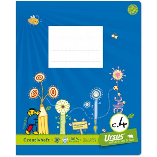 URSUS FORMATI Creativheft C.4 quart 20 Blatt liniert/glatt