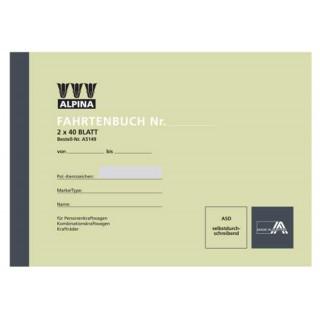 LEYKAM Fahrtenbuch A5149 A5 quer 2 x 40 Blatt selbstdurchschreibend