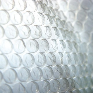 Luftpolsterfolie 2-lagig 60 mic 1 m x 100 m transparent