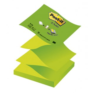 POST-IT® Haftnotizen Z-Notes R330-NAG 12 Blöcke à 100 Blatt 76 x 76 mm grün