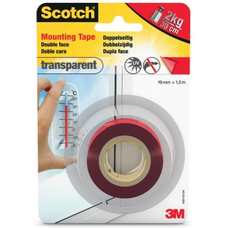 SCOTCH Montageklebeband 19 mm x 1,5 m transparent