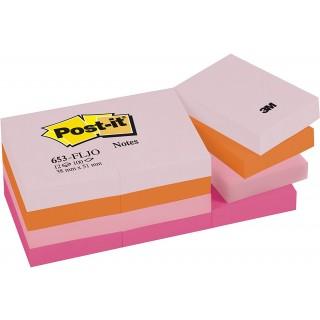 POST-IT Haftnotizen 12 Blöcke à 100 Blatt 38 x 51 mm 4 Farben