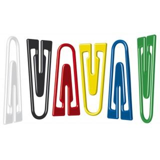 ALCO Büroklammern 75 Stück 26 mm farbig sortiert