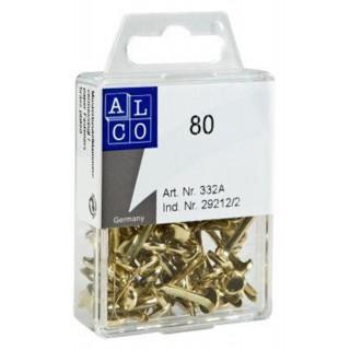 ALCO Rundkopfklammern 0,3 - 1,7 cm 80 Stück Messing