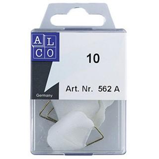 ALCO Bildaufhänger ALC562A Ø 3 cm 10 Stück klebend weiß