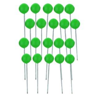 ALCO Landkartennadeln 100 Stück hellgrün