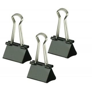 ALCO Foldback-Klammern 782 A 6 Stück 2,5 cm schwarz