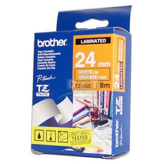 BROTHER Schriftbandkassette P-Touch TZ-655 24 mm x 8 m orange