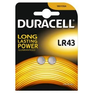 DURACELL Knopfzelle LR43 1,5 V 2 Stück