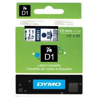 DYMO Schriftband D1 12 mm x 7 m laminiert blau