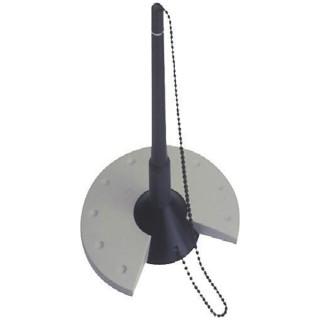 HELIT Kugelschreiberständer mit Kette 635 schwarz/grau