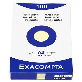 EXACOMPTA Karteikarten 100 Stück DIN A5 glatt gelb