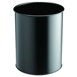 DURABLE Papierkorb 330101 15 l Metall rund schwarz