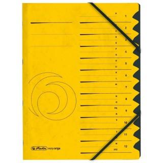 HERLITZ Ordnungsmappe 1-12 Colorspan gelb