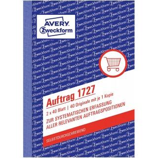 AVERY ZWECKFORM Auftragsbuch 1727 A6 2 x 40 Blatt