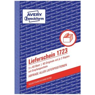 AVERY ZWECKFORM Lieferschein 1723 DIN A6 3 x 40 Blatt selbstdurchschreibend