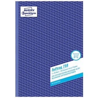 AVERY ZWECKFORM Auftragsbuch 758 A4 3 x 50 Blatt