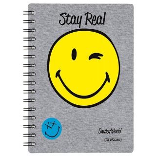HERLITZ Spiralbuch SmileyWorld A5 100 Blatt kariert