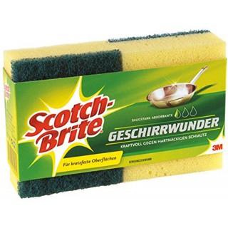 SCOTCH Schwamm Brite Geschirrwunder 2 Stück gelb/grün