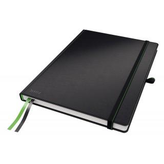 LEITZ Notizbuch A4 80 Blatt kariert schwarz