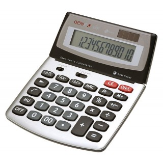 GENIE Tischrechner 12-stellig mit Jumbo-Tasten grau
