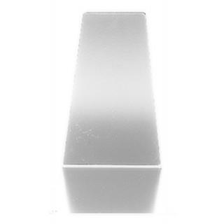 ALCO Buchstützen keilförmig 2 Stück 12,5 x 14,5 cm Metall  weiß