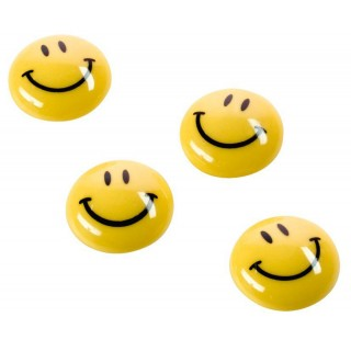 MAGNETOPLAN Magnet Smiley 20 mm 8 Stück gelb