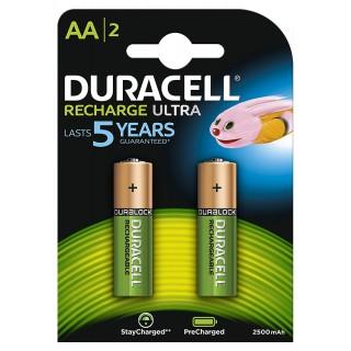 DURACELL Batterie Ultra wiederaufladbar AA 2 Stück