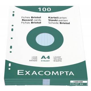 EXACOMPTA Karteikarten DIN A4 100 Stück blau