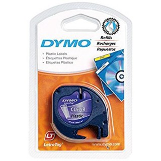 DYMO Letra-Band 12 mm x 4 m Plastik transparent