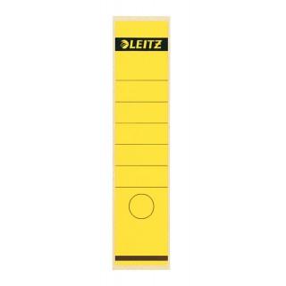 LEITZ Rückenschilder für Standard- und Hartpappe-Ordner 10 Stück gelb