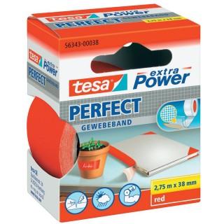 TESA Gewebeband 56343 Extra Power 38 mm x 2,75 m rot