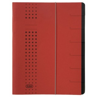 ELBA Ordnungsmappe 7-teilig rot