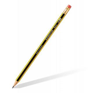 STAEDTLER Bleistift Noris 122 mit Radiergummi HB
