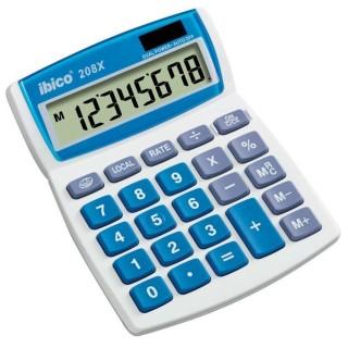 IBICO Tischrechner 208X 8-stellig grau/blau