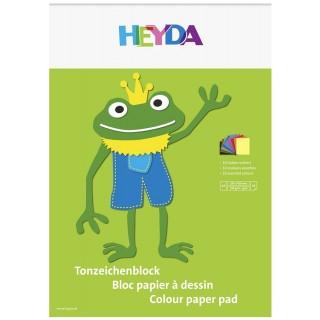 HEYDA Tonpapierblock  A3 10 Blatt