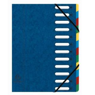 EXACOMPTA Ordnungsmappe A4 12-teilig blau