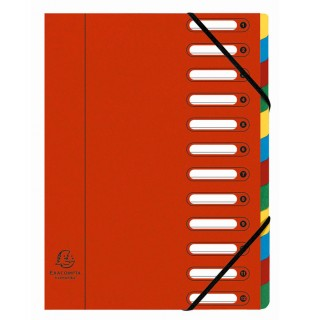 EXACOMPTA Ordnungsmappe A4 12-teilig rot