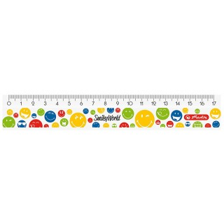 HERLITZ Lineal SmileyWorld Rainbow 17 cm