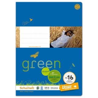 URSUS GREEN Heft FX16 A4 20 Blatt hochkariert