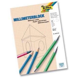 FOLIA Millimeterblock DIN A3 80 g/m2 25 Blatt