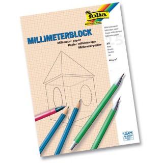 FOLIA Millimeterblock DIN A4 80 g/m2 25 Blatt