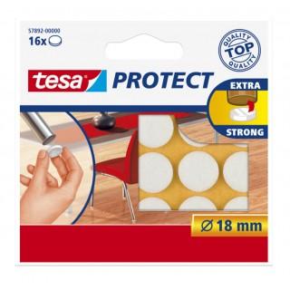 TESA Filzgleiter 57892 18 mm rund 16 Stück weiß