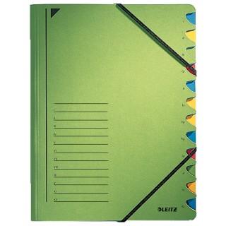 LEITZ Ordnungsmappe A4 12-teilig grün