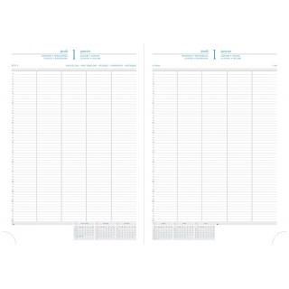 QUO VADIS Kalender Journal 294521 A4 1 Tag auf 2 Seiten 2019 schwarz