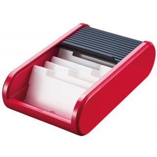 HELIT Visitenkartenbox H6218092 Personal rot/schwarz