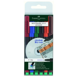 FABER CASTELL Folienstift Multimark 0,6 mm permanent 6er Etui