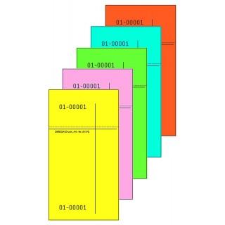 OMEGA Kellnerblock 7,5 x 14 cm mehrere Farben