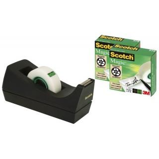 SCOTCH Tischabroller C38 mit 3 Rollen Klebeband