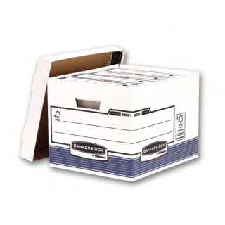 FELLOWES Archivbox Bankers Box 33,5 x 29,2 x 40,4 cm blau/weiß